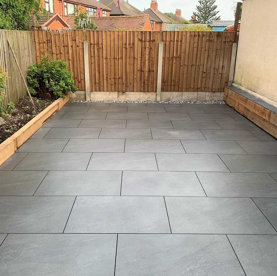 Anthracite Porcelain Paving 900x600 R11 Dark Grey Outdoor Tile *Check Delivery*
