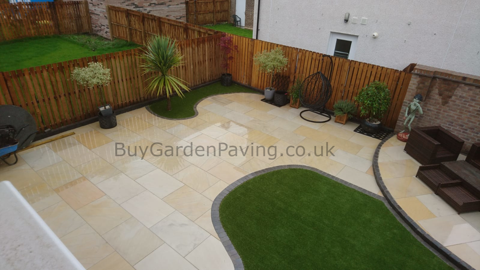 Smooth Honed Mint Ivory Indian Sandstone Paving 1m2 900x600 *READ DESCRIPTION*