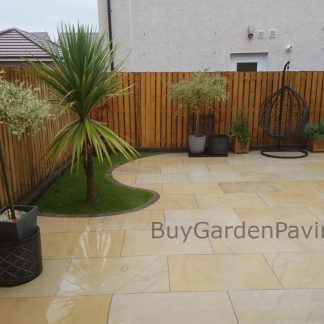 Mint Ivory Smooth Sandstone Paving